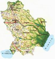 cartina della Basilicata